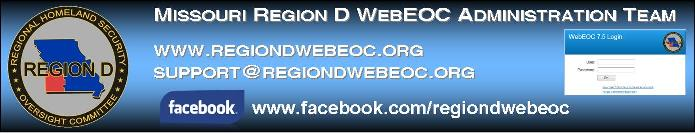 Missouri Region D WebEOC Helpdesk